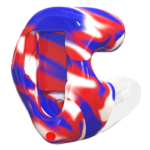 Marble Red Blue White